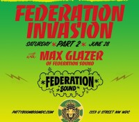 DC! The Federation Invasion continues tonight inside @pattyboomboomdc with @maxglazer. Link up!