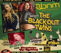 We've got another great night for you @bnmnyc! This Thursday we welcome the Blackout Twins (@bintablackout & @vendelablackout) and @djgreenbizzle. This one is going to be a ladies night spectacular so make sure you come out early. $5 Red Stripe and rum drinks until midnight. Admission is FREE all night.