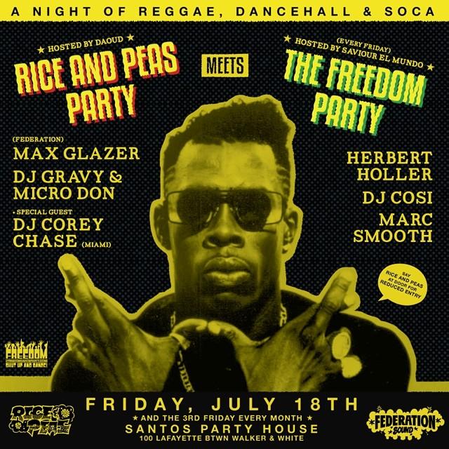 NYC tonight. @santospartyhouse x @freedompartynyc x @riceandpeasparty x @micro_don_daddy x @djgravy x @maxglazer x @federationsound x @djmarcsmooth x @djcosito x @djmoma x @herbertholler x @saviorelmundo x @daoudsun. Say