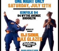 One night only. Tonight. @maxglazer and @djsoulnyc at Kinfolk – 94 Wythe Avenue. Brooklyn. Say either of their names at the door for free admission.