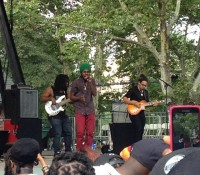 "REPOST FROM @conkonn: ""Here come trouble!!! chronixxmusic summerstage summerstage2014 okayplayer centralparknyc federationsound"""