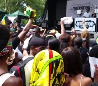 "REPOST FROM @divadoesmakeup: ""Welcome to Jamrock! Jamaica Jamaican summerstage2014 NYC reggae music love peace goodvibes @chronixxmusic FederationSound Caribbean JamaicansBeLike"""