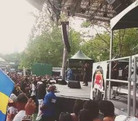 "REPOST FROM @jintrovert: "" chronixx boom summerstage largeup federationsound riceandpeasparty"""