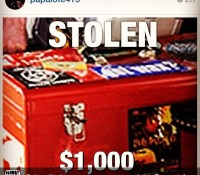 Repost from @deadlydragon Oakland SF Dj community please keep an eye n ear out for MrE's @papalote415 45 box which was stolen from his car reward if found. nobadmind