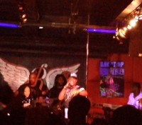 Rum & Red Bull. @futurefambizzle live in NYC with @itsthetifa.