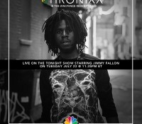 Tonight. @chronixxmusic x @jimmyfallon x @fallontonight. Saturday. Central Park @summerstagenyc. Spread the word.