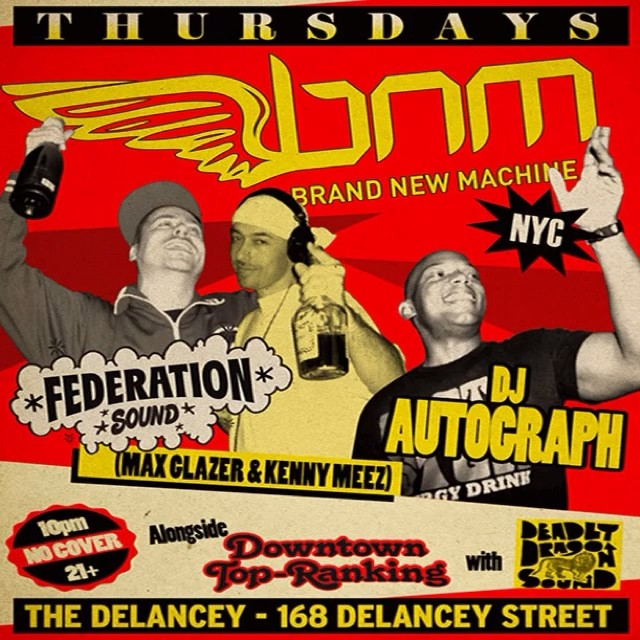 We ready are you? Tonight it's all about @bnmnyc meets DowntownTopRankin at @thedelancey 168 Delancey st NYC @kennymeez @maxglazer @djautograph and the @deadlydragon family play all your favorite reggae jams plus more. No cover 21 with id is a must. Drink specials from 10 to midnight and food served till 3