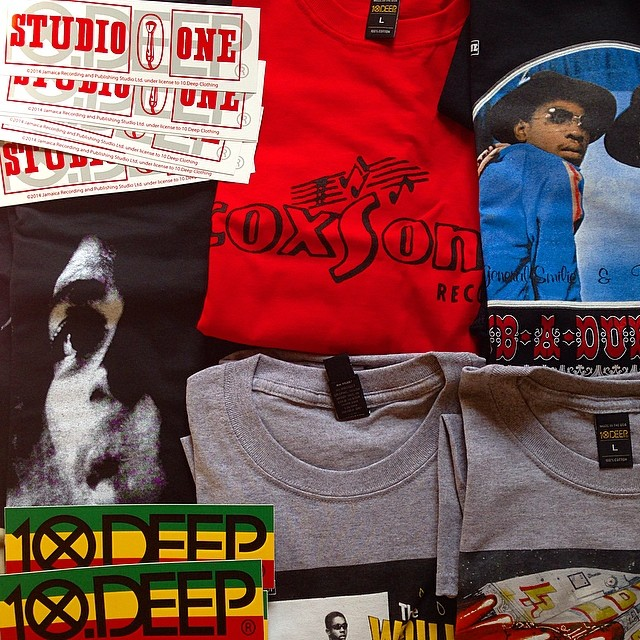 Barrel just reach! Big up @10deep for the wicked studio1 collection. studioone. coxsone.