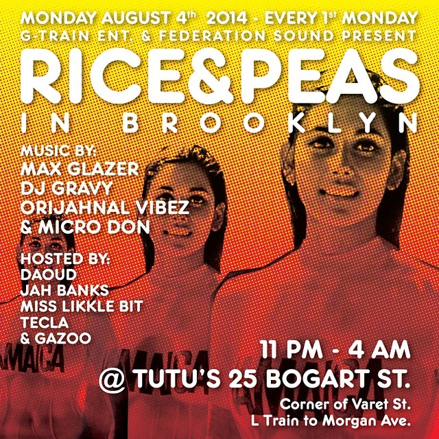 Brooklyn tonight with the @riceandpeasparty family. 25 Bogart Street.