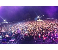 Decent size crowd last night at Rock al Parque in Bogota, Colombia last night with @dagdiggy and @freakycolectivo.