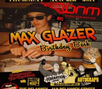 NYC – Thursday it's all about @maxglazer's birthday bash inside @bnmnyc. Roll out and celebrate with us @thedelancey – 168 Delancey Street. Doors at 10 pm. No cover all night. $5 Red Stripe and rum drinks until 11. Downtown Top Ranking with @deadlydragon @thequeenmajesty @mrkdeadlydragon in the basement.