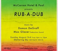New York City link up today @mccarrenbk. Music by @maxglazer and @damondegraff 5-10 pm. 160 North 12th Street – Williamsburg, Brooklyn. rubadub.