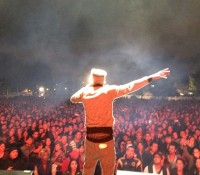 On stage with @dagdiggy. Rock al Parque – Bogota, Colombia.