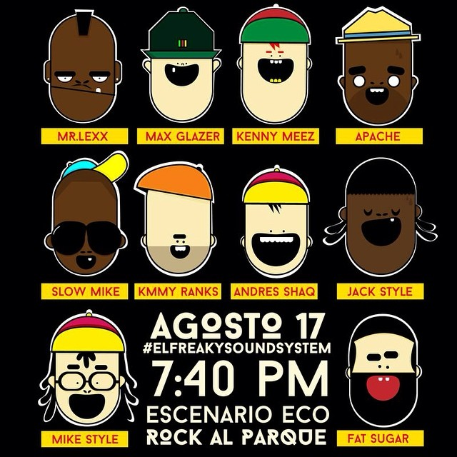 This is about to happen in Bogota, Colombia. @federationsound x @freakycolectivo x @apacheoficial x @slowmike x @stanleyjacksons x @dagdiggy