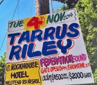 Later will be greater inside @rockhousehotel with @tarrusrileyja live on the cliffs alongside FederationSound. @maxglazer and @kennymeez in the place – gates at 8 pm – show time 9. See the whole family in the place already – @ari @micro_don_daddy @djindianajones @reidvanrenesse @spliffingt0n @matt_goias.