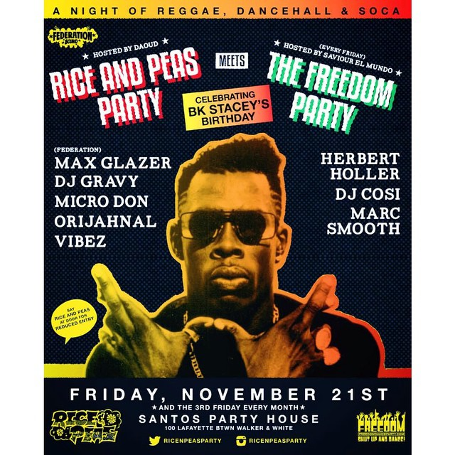 NYC tonight. We're in LA but if you are not then you should definitely be @santospartyhouse. @riceandpeasparty x @freedompartynyc x @bkstacey birthday bash.