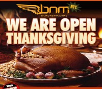 New York – @bnmnyc is happening this Thursday, thanksgiving night. You will have spent plenty of time with your family all day. Come a hold a vibes with the Brand New Machine family after you stuff your face.