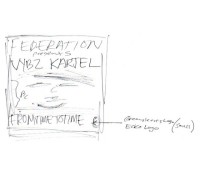 Original cover sketch for Vybz Kartel – From Time To Time mix cd. tbt. throwbackthursday. federation15.