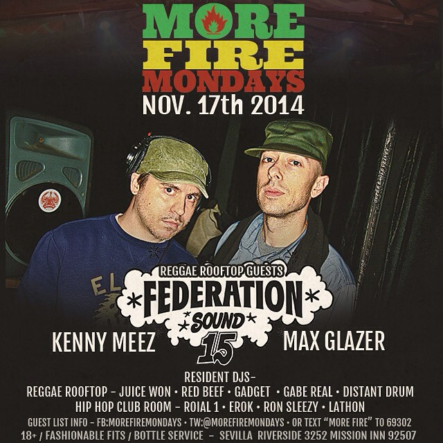 Riverside, CA we are here! @morefiremondays tonight @sevillanightclubrs with @djgabereal and @redbeef. federation15.