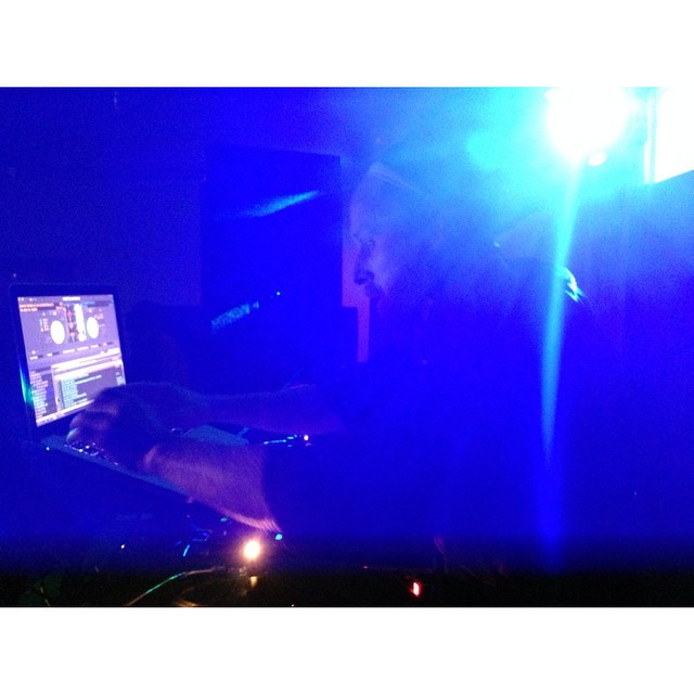 The Small Axe, YT, at the controls in Portland last night. federation15. federationinvasion. federationsound. federation.