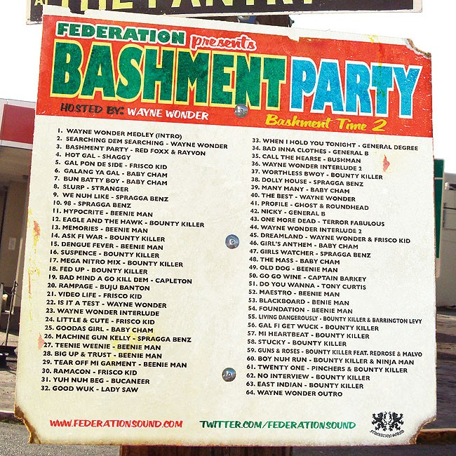 Bashment Party (Free Download) For Now | Federation Sound