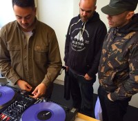 Big up the @serato family! @maxglazer passing through HQ with @houseshoes and @grindinoz.