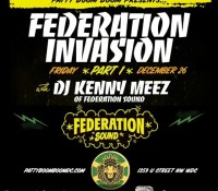 By @kennymeez Tonight the federationinvasion begins at @pattyboomboomdc 1359 u st Washington, D.C. With yours truly blessing the turntables in fine @federationsound style. Make it a date and don't be late. Leave the machine and bring your queen. Tomorrow night Saturday the 27th will see @maxglazer at the controls for part few of the invasion!