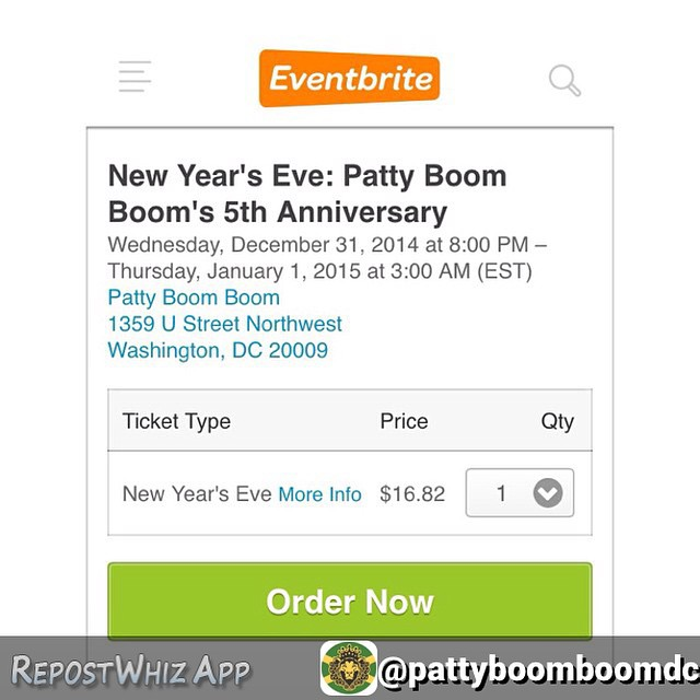 By @pattyboomboomdc Purchase a ticket ahead of time to avoid the line! Selling fast https://www.eventbrite.com/e/new-years-eve-patty-boom-booms-5th-anniversary-tickets-14980681622 pattynye dancehall federationsound