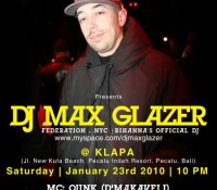 Max Glazer Indonesian Tour (Jan 2010)