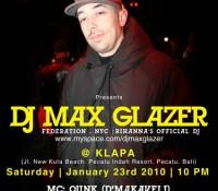 Max Glazer Indonesian Tour (Jan 2010)