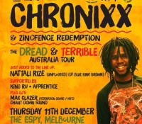 The Federation Invasion continues with @maxglazer alongside @chronixxmusic in Australia (Melbourne / Sydney). Big up @grindinoz! federation15. federationsound. federationinvasion. federation. easeout. chronixx. zincfence. Melbourne December 11. Sydney December 12. Soon post full AUS dates.