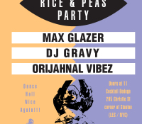 Rice and Peas Party (April 1st)